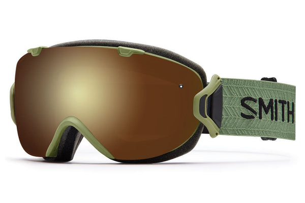 Smith - I/OS Olive Goggles, Gold Sol-X Mirror Lenses