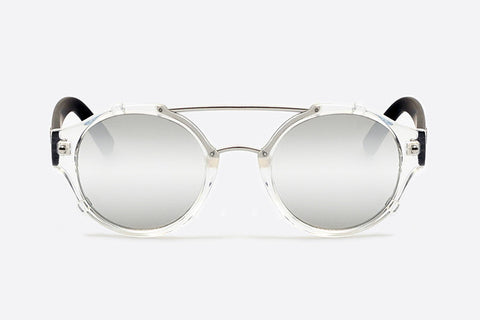 Quay It's A Sin Clear Black / Silver Sunglasses