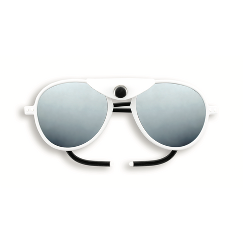 Izipizi - #Sun Glacier Plus Full White Sunglasses / Polarized Brown Polycarbonate Lenses