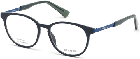 Diesel - DL5289 Shiny Blue Eyeglasses / Demo Lenses