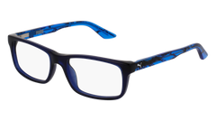 Puma - PJ0009O Junior Blue + Light Blue Eyeglasses / Demo Lenses