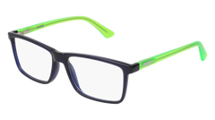 Puma - PJ0016O Junior Blue + Green Eyeglasses / Demo Lenses