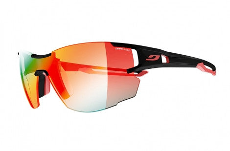 f309212a03 Julbo - Aerolite Black / Red Sunglasses, Zebra Light Fire Lenses ...