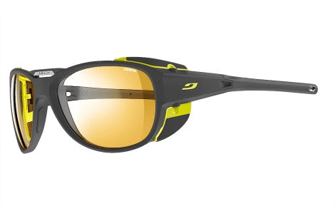 Julbo - Explorer 2.0 Matte Gray / Yellow Sunglasses, Zebra Lenses