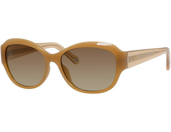 Fossil - 3028  Pale Nude  Sunglasses / Brown Gradient Lenses