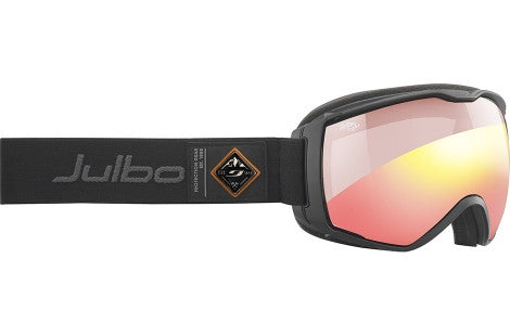 Julbo - Aerospace Black Goggles, Zebra Light Red Lenses