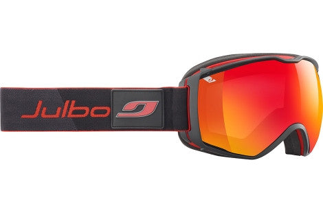 Julbo - Airflux Black / Red Goggles, Mirror Spectron Cat. 3 Double Lenses