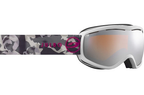 Julbo - Equinox White Marble Goggles, Mirror Spectron Cat. 3 Double Lenses