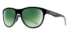 Native - Acadia Matte Black Sunglasses / Green Reflex Lenses