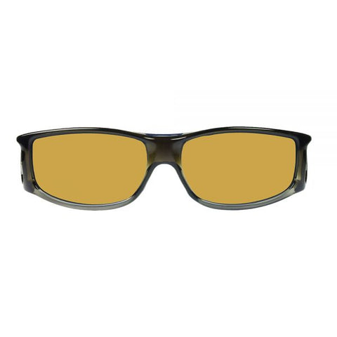 Jonathan Paul Fitovers - Jett Olive Charcoal Fitover Sunglasses / Polarvue Yellow Lenses