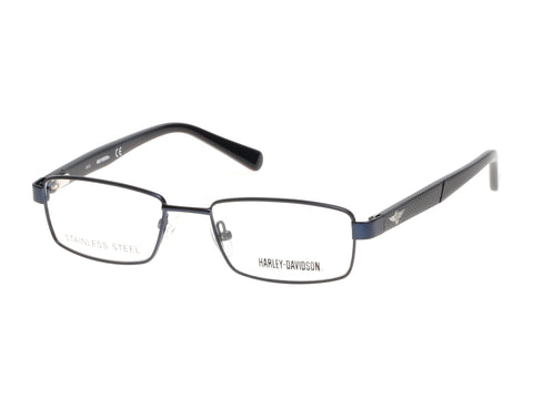 Harley-Davidson - HD0128T Matte Blue Eyeglasses / Demo Lenses