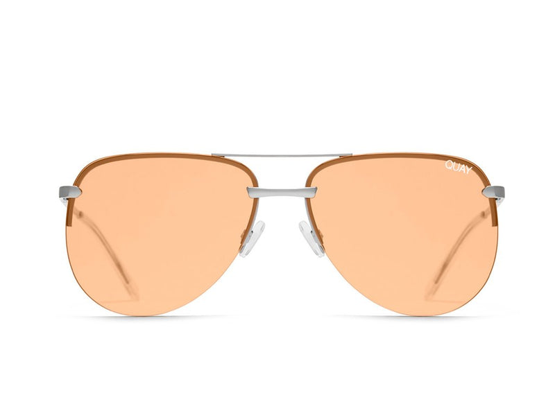 e5e568f037b Quay The Playa Silver Sunglasses   Orange Lenses – New York Glass