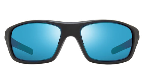 Revo - Jasper 61mm Matte Black Sunglasses / Revo Blue Lenses