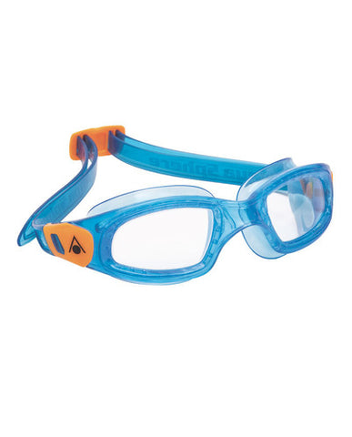 Aqua Sphere - Kameleon Kid Blue Orange Accents Swim Goggles / Clear  Lenses