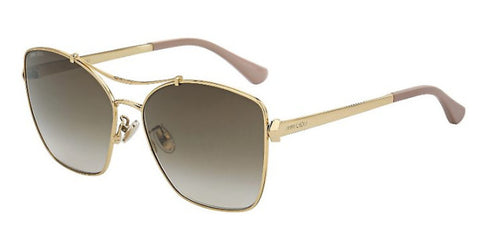 Jimmy Choo - Kimi F S Red Gold Nude White Sunglasses / Brown Gradient Lenses
