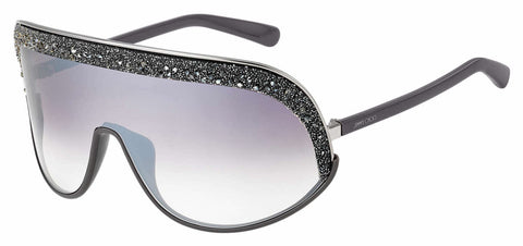 Jimmy Choo - Siryn S Gray Sunglasses / Brown Mirror Gradient Lenses