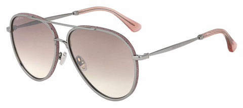 Jimmy Choo - Triny S Silver Pink Sunglasses / Brown Mirror Gradient Lenses