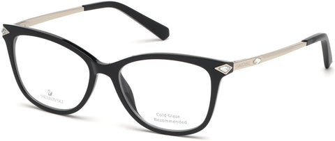 Swarovski - SK5284 53mm Shiny Black Eyeglasses / Demo Lenses