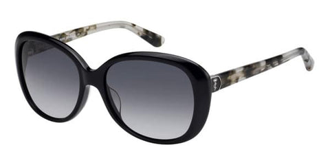 Juicy Couture - Ju 598 S Black Havana Sunglasses / Dark Gray Gradient Lenses