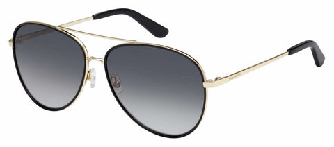Juicy Couture - Ju 599 S Gold Black Sunglasses / Dark Gray Gradient Lenses
