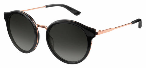 Juicy Couture - Ju 596 S Black Gold Sunglasses / Dark Gray Gradient Lenses