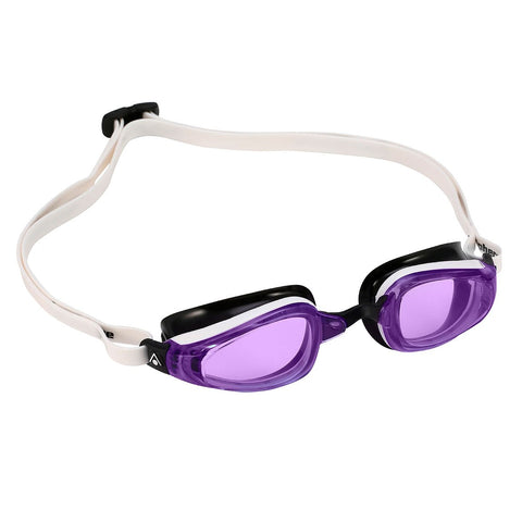 MP Michael Phelps - K180 White Black Swim Goggles / Violet Lenses