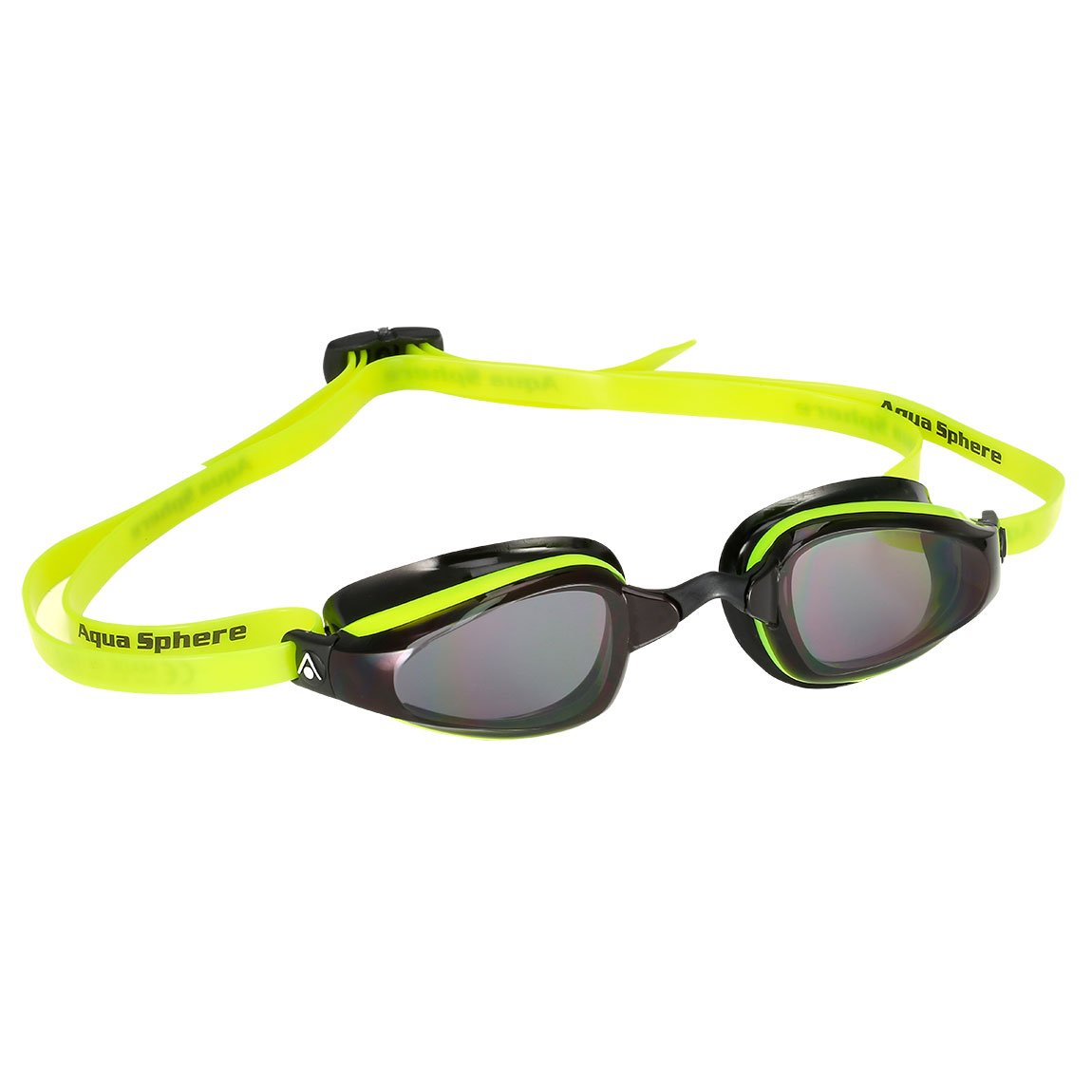 MP Michael Phelps - K180 Neon Yellow Black Swim Goggles / Smoke Lenses