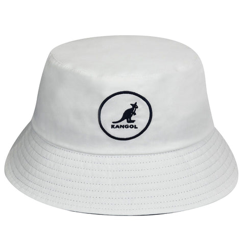 Kangol - Cotton Bucket White Hat
