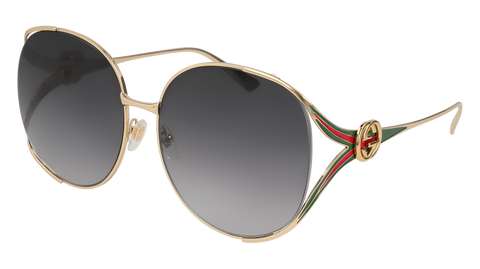 Gucci - GG0225S Gold Sunglasses / Grey Lenses