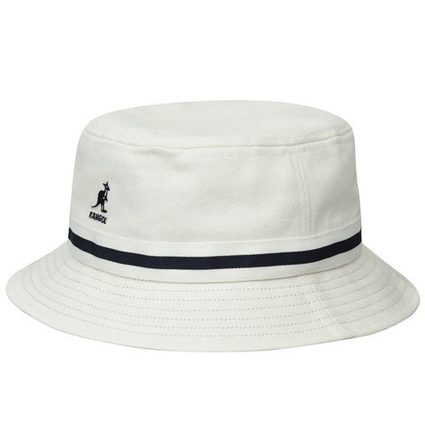 Kangol - Stripe Lahinch White Hat