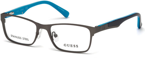 Guess - GU9173 Matte Gunmetal Eyeglasses / Demo Lenses