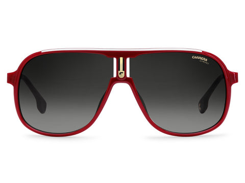 Carrera - 1007 Red Sunglasses / Dark Gray Gradient Lenses