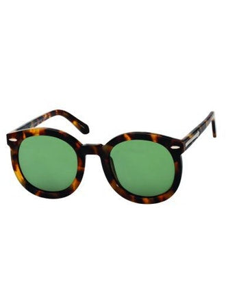 Karen Walker - Super Duper Strength (AF) Crazy Tortoise Sunglasses / Gray Lenses
