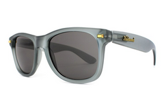 Knockaround - Fort Knocks Frosted Grey Sunglasses, Polarized Smoke Lenses