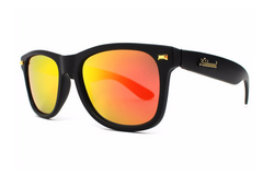 Knockaround - Fort Knocks Matte Black Sunglasses, Sunset Lenses