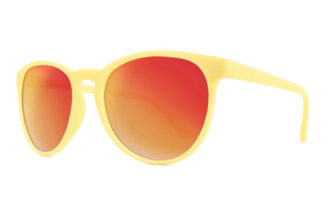 Knockaround - Mai Tais Cream Sunglasses, Red Sunset Lenses