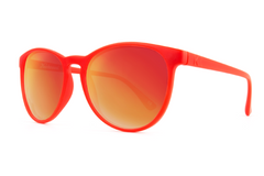 Knockaround - Mai Tais Red Sunglasses, Red Sunset Lenses
