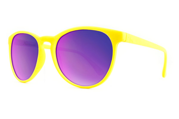 Knockaround - Mai Tais Yellow Sunglasses, Purple Lenses
