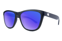 Knockaround - Premiums Black Sunglasses, Polarized Moonshine Lenses