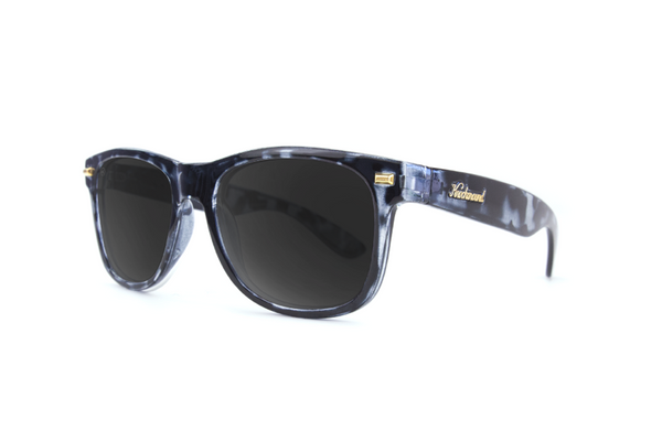 Knockaround Fort Knocks Gloss Black Tort Sunglasses, Smoke Polarized Lenses