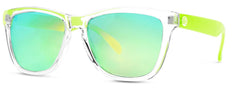 Sunski - Originals Clear Sunglasses / Lime Polarized Lenses