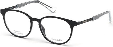 Diesel - DL5289 Shiny Black Eyeglasses / Demo Lenses