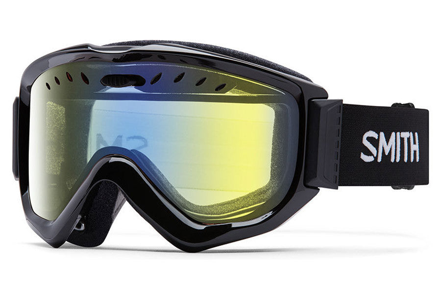 Smith Knowledge OTG Black Goggles, Yellow Sensor Mirror Lenses