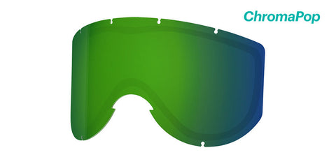 Smith - Knowledge Turbo Chromapop Sun Green Mirror Snow Goggle Replacement Lens