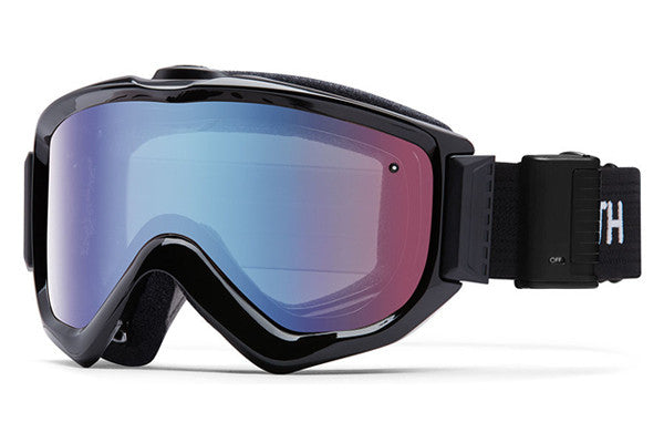 Smith - Knowledge Turbo Fan Black Goggles, Blue Sensor Mirror Lenses
