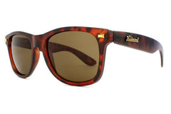 Knockaround - Fort Knocks Matte Tortoise Shell Sunglasses, Amber Lenses