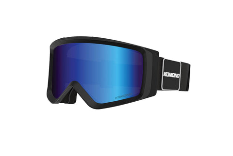 Komono - Anton Black Revo Snow Goggles / Blue Mirror Lenses