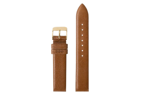 Komono - Strap 16 Cognac Gold Watch Strap
