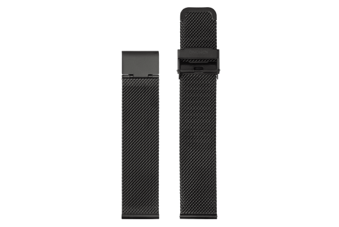 Komono - Strap 20 Black Mesh Watch Strap