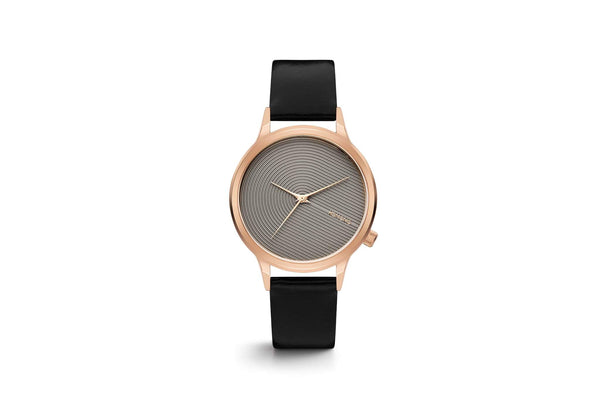 Komono - Lexi Deco Black Rose Watch